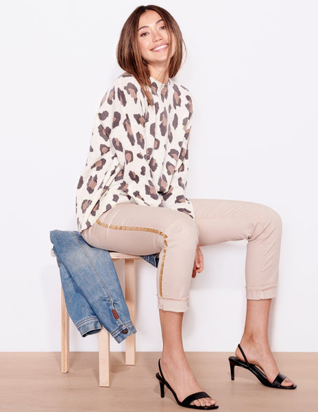 Sundry leopard oversized sweater