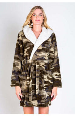 Pj salvage Cozy Camo Robe