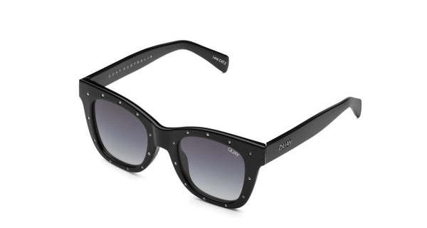 Quay After hours - rhinestone black/silver smoke sunglasses