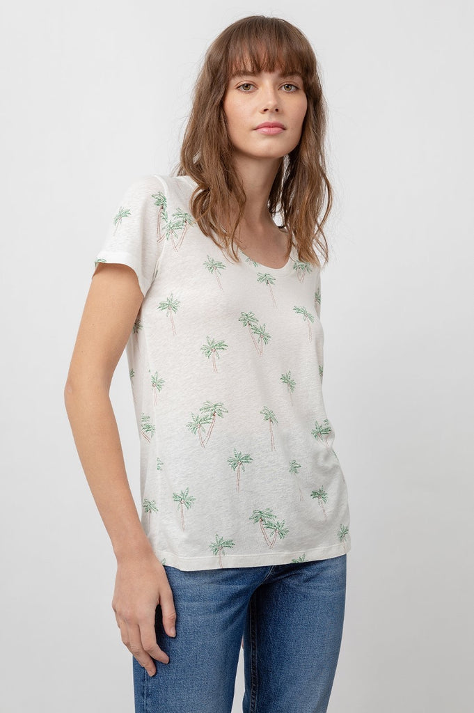 Rails THE LUNA SCOOP NECK - SKETCHED PALMS