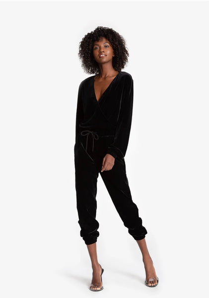 N Philanthropy Viper Jumpsuit- black cat