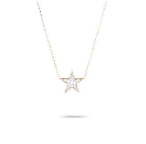 Adina Reyter solid Pave star necklace - y14k