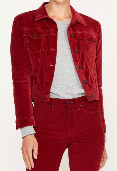 Hudson  Classic Fitted Trucker Jacket -oxblood
