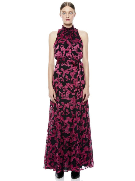 Alice & Olivia Dita mocked neck Godet Max dress - Show me love