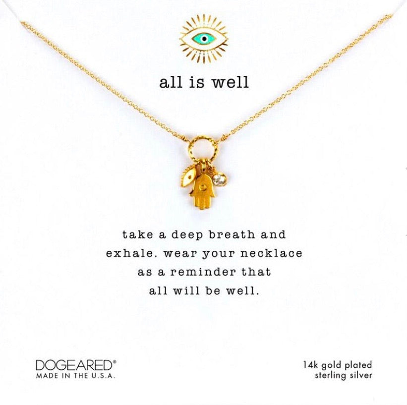 Dogeared All is Well gold necklace