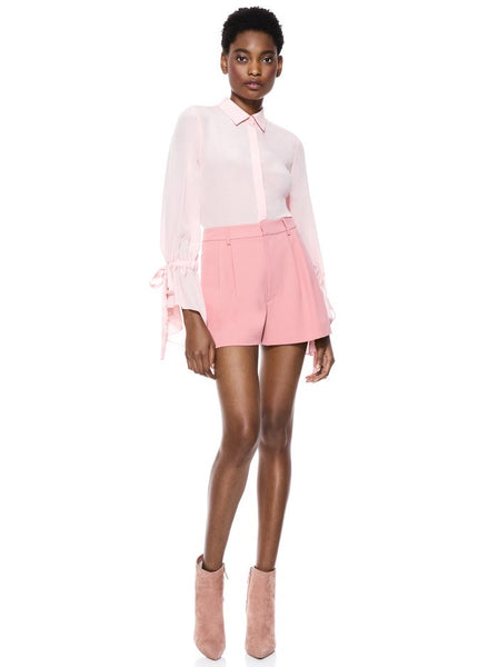 Alice & Olivia Conry pleated short - rose