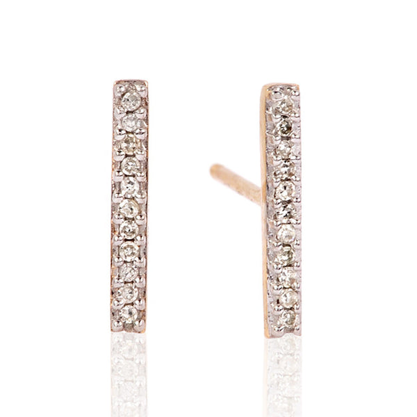 Adina Reyter Pave Bar Earrings 14k