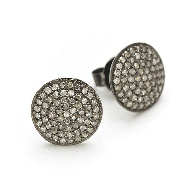 Rona Pfeiffer Pave Circle Earings
