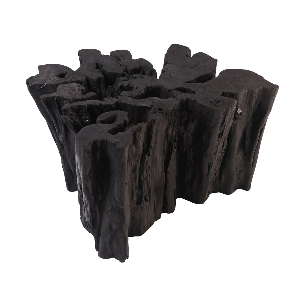 Black Volcano Teak Root Sculpture 1 - Dyag East