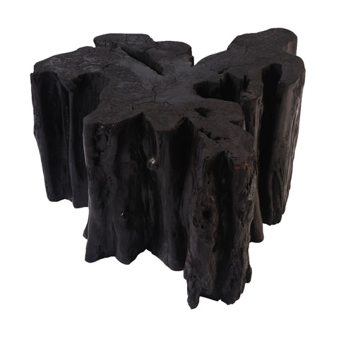 Black Volcano Teak Root Sculpture 2 - Dyag East