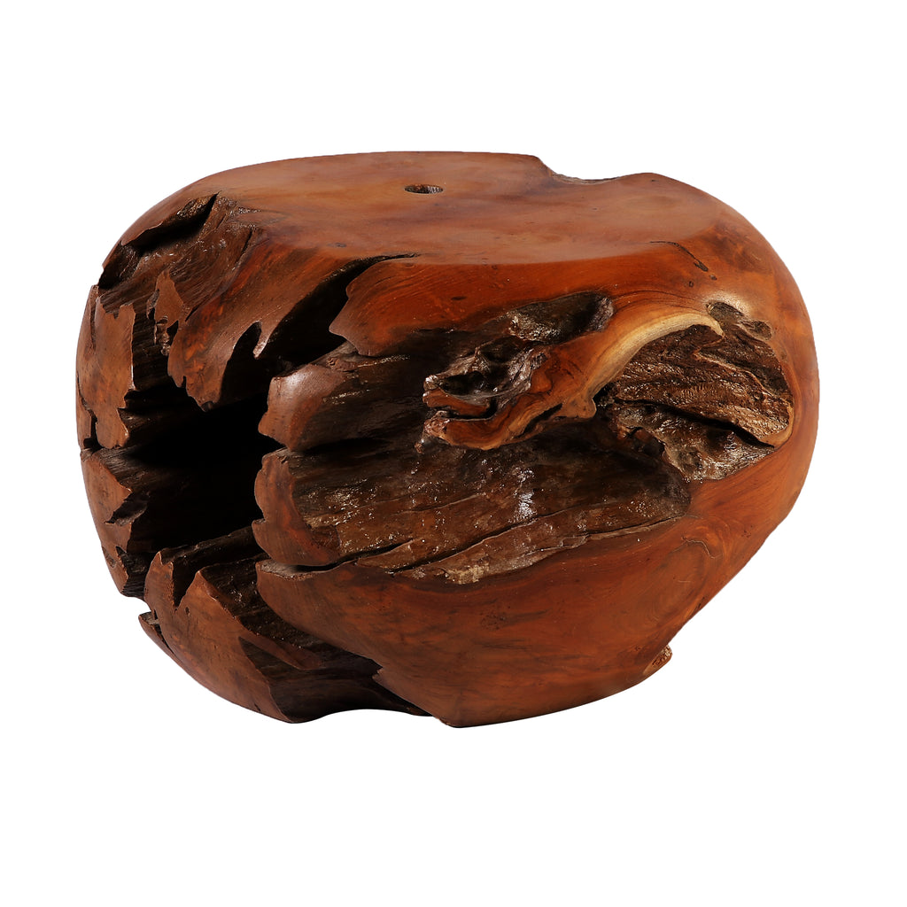 Round Teak Root Accent or Side Table or Stool 4 - Dyag East