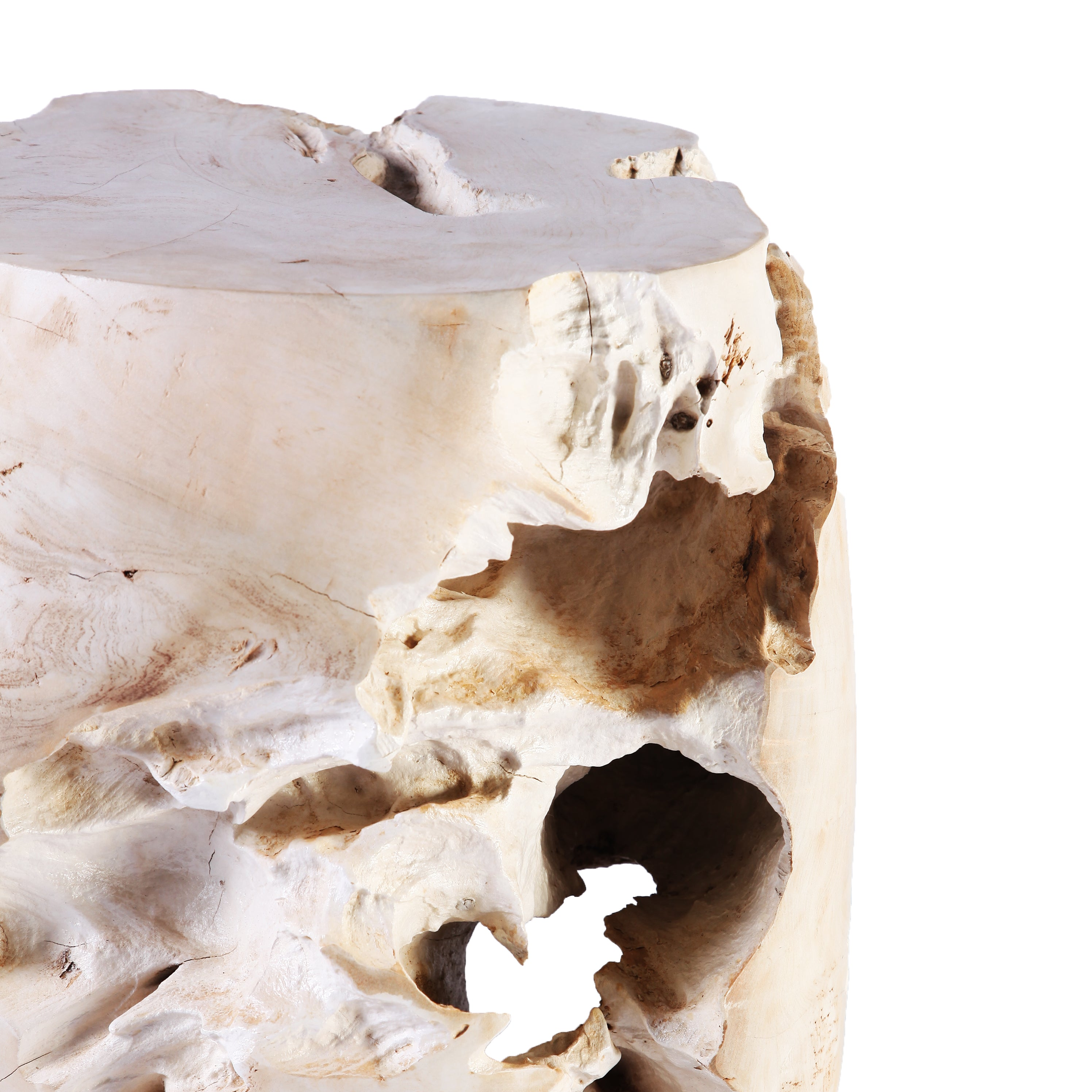 Z Bleached Teak Root Accent Or Side Table Or Stool 4 Dyag East
