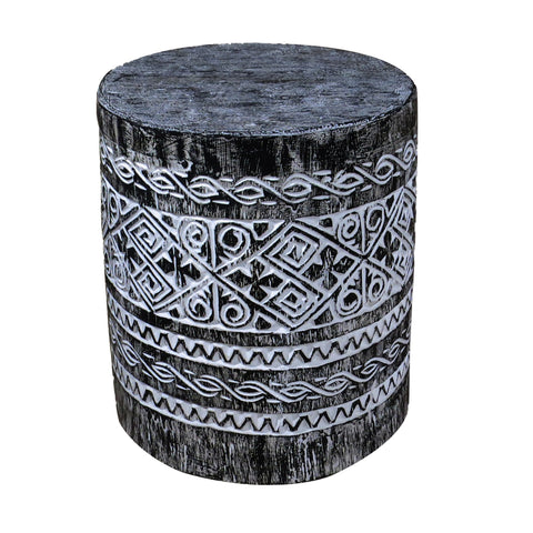 Black Balinese Accent or Side Table - Dyag East
