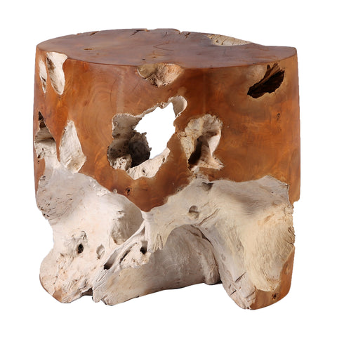 Nature Teak Root Accent or Side Table or Stool 5 - Dyag East