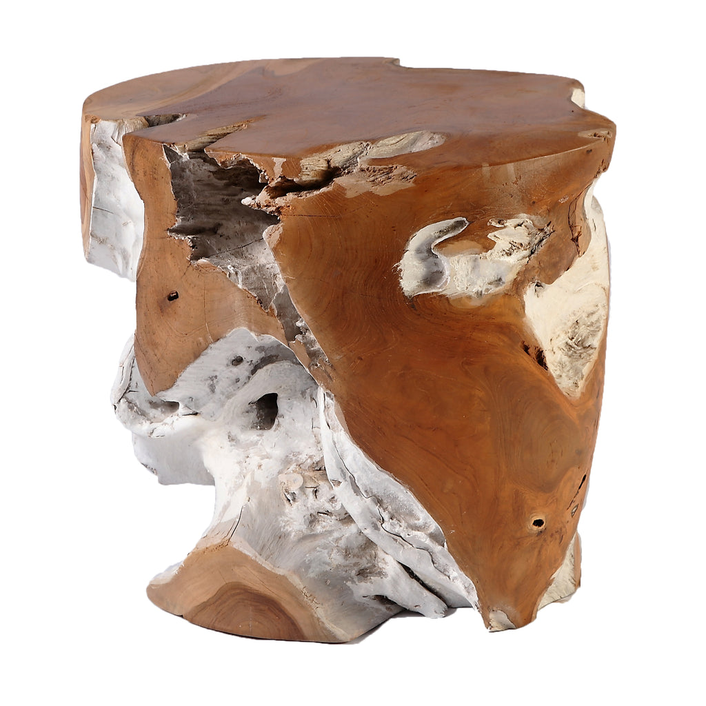 Nature Teak Root Accent or Side Table or Stool 6 - Dyag East