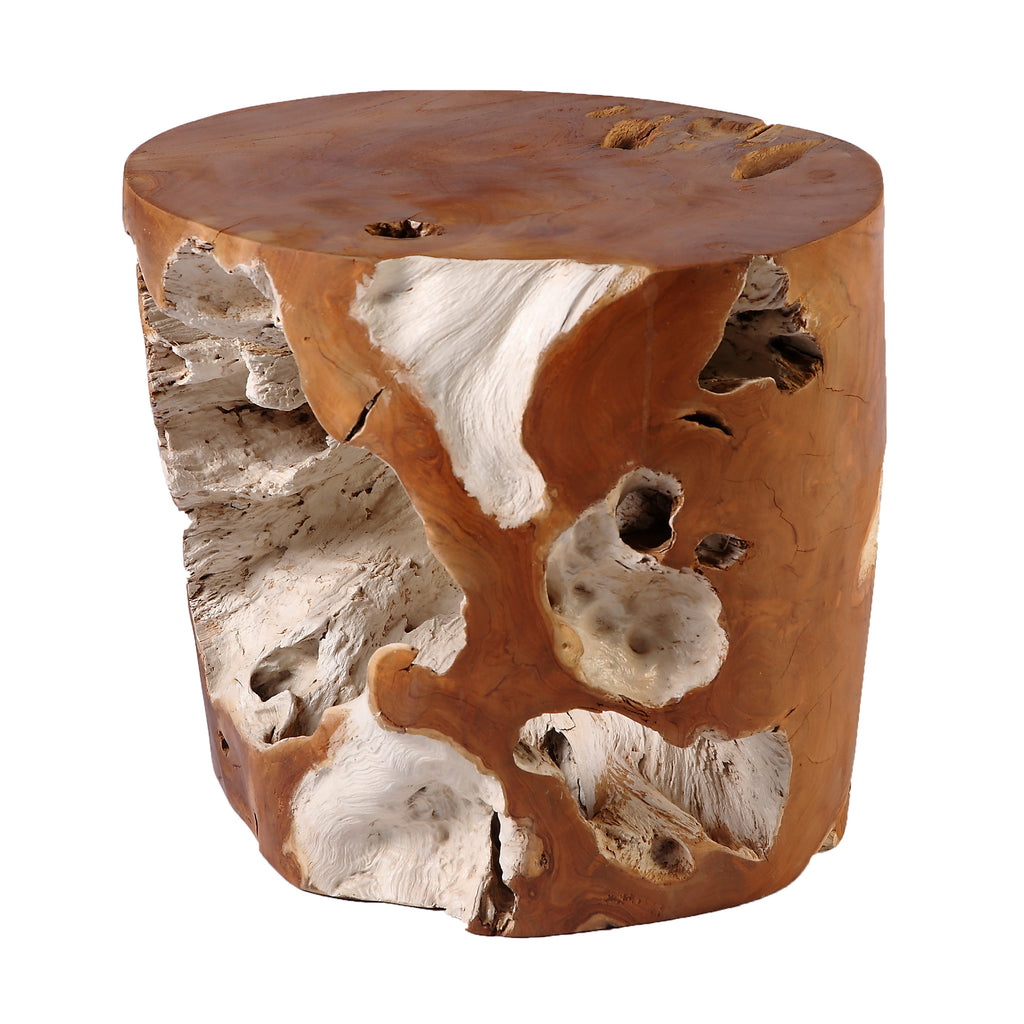 Nature Teak Root Accent or Side Table or Stool 7 - Dyag East