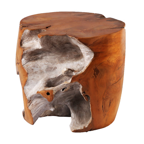 Nature Teak Root Accent or Side Table or Stool 8 - Dyag East