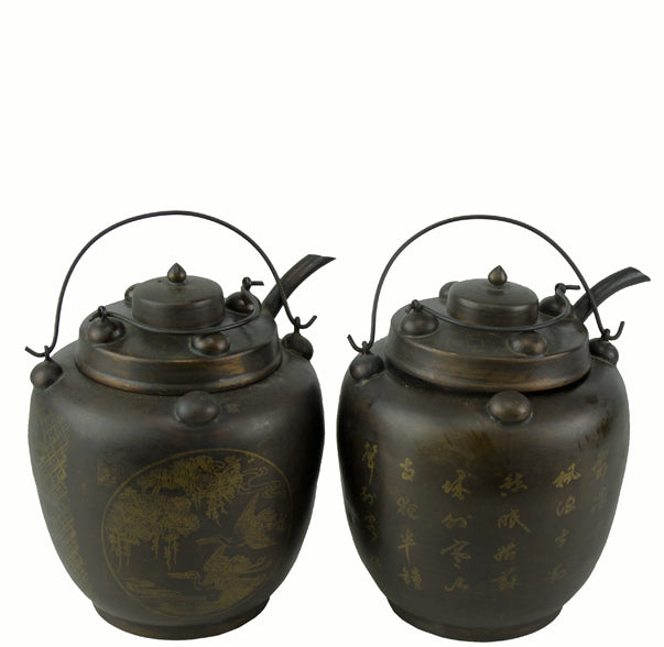 Pair of Hand Warmer Pot with Lids - Dyag East