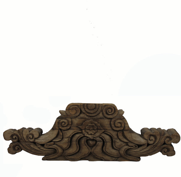 Antique Chinese Hand Carved Wood Architectural Ornament