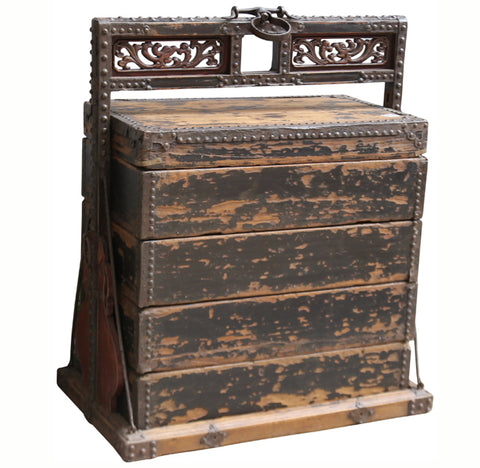 Antique Chinese Wood Food Box - Dyag East