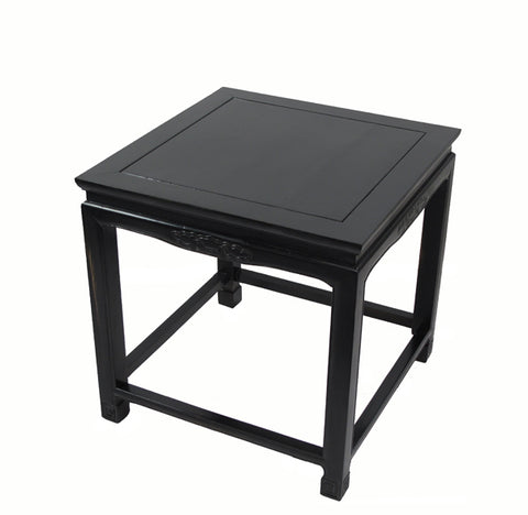 Black Lacquer Square Side Table - Dyag East