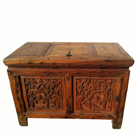 Carved Truck Accent Table - Dyag East