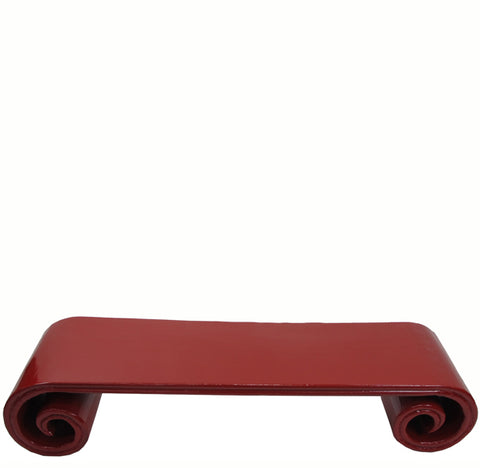 Red Vintage Low Scroll Ends Accent Table - Dyag East