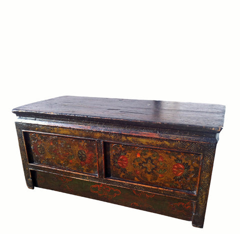 One Drawer Tibetan Accent Table - Dyag East
