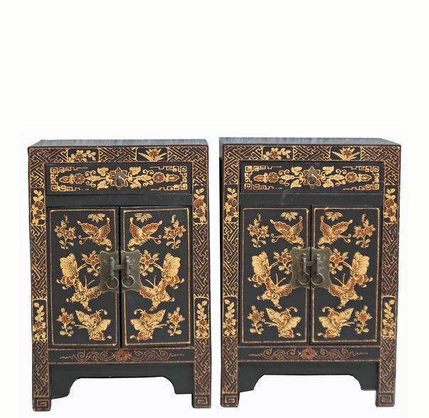 Pair of Chinoiserie-Style Night Stand - Dyag East