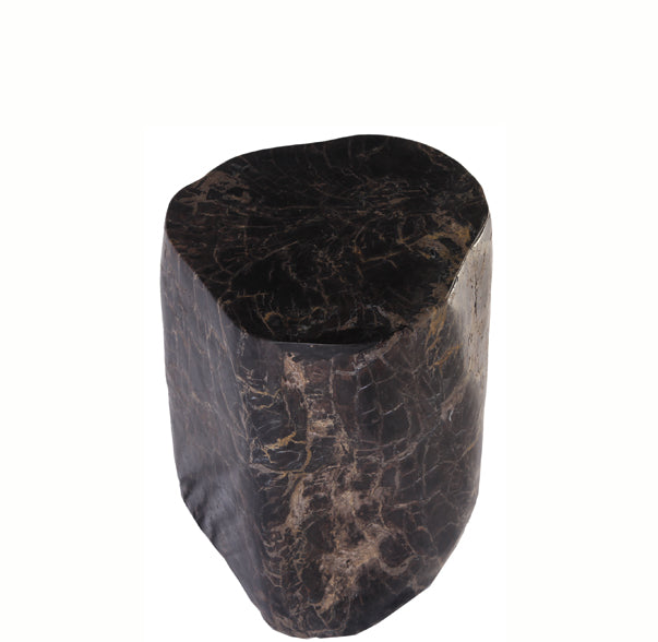 Petrified Wood Stool Accent Table 3 - Dyag East