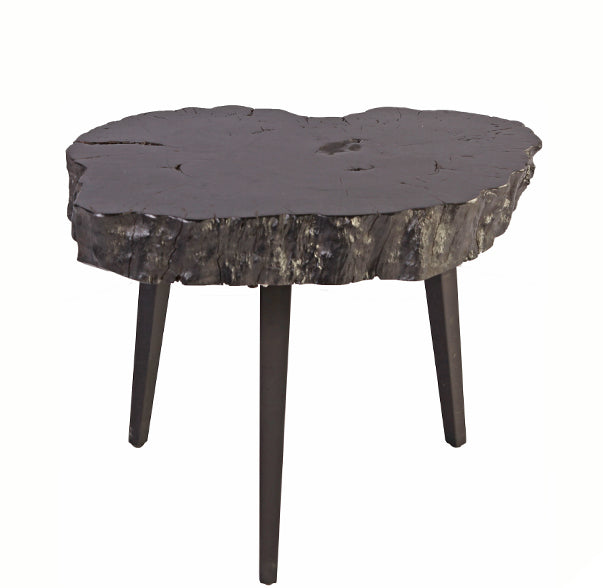 Black Lychee Living Edge Accent or Side Table 1