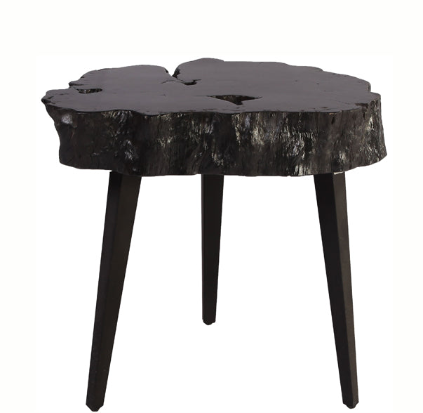 Black Lychee Living Edge Accent or Side Table 2