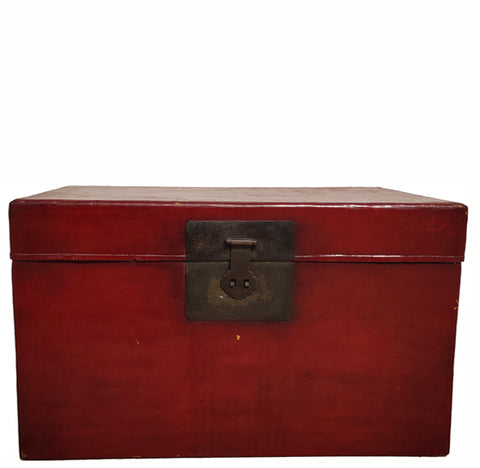 Antique Red  Traveler's Trunk