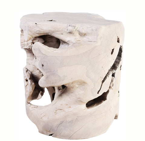 Bleached Teak Root Accent or Side Table or Stool 39