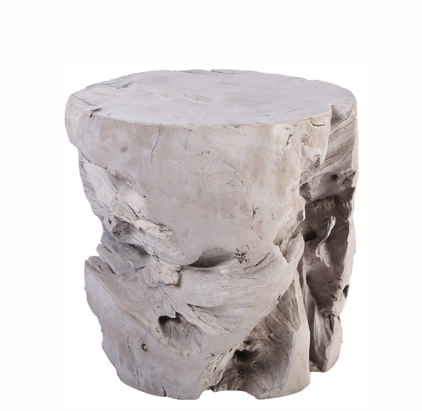 Bleached Teak Root Accent or Side Table or Stool 41