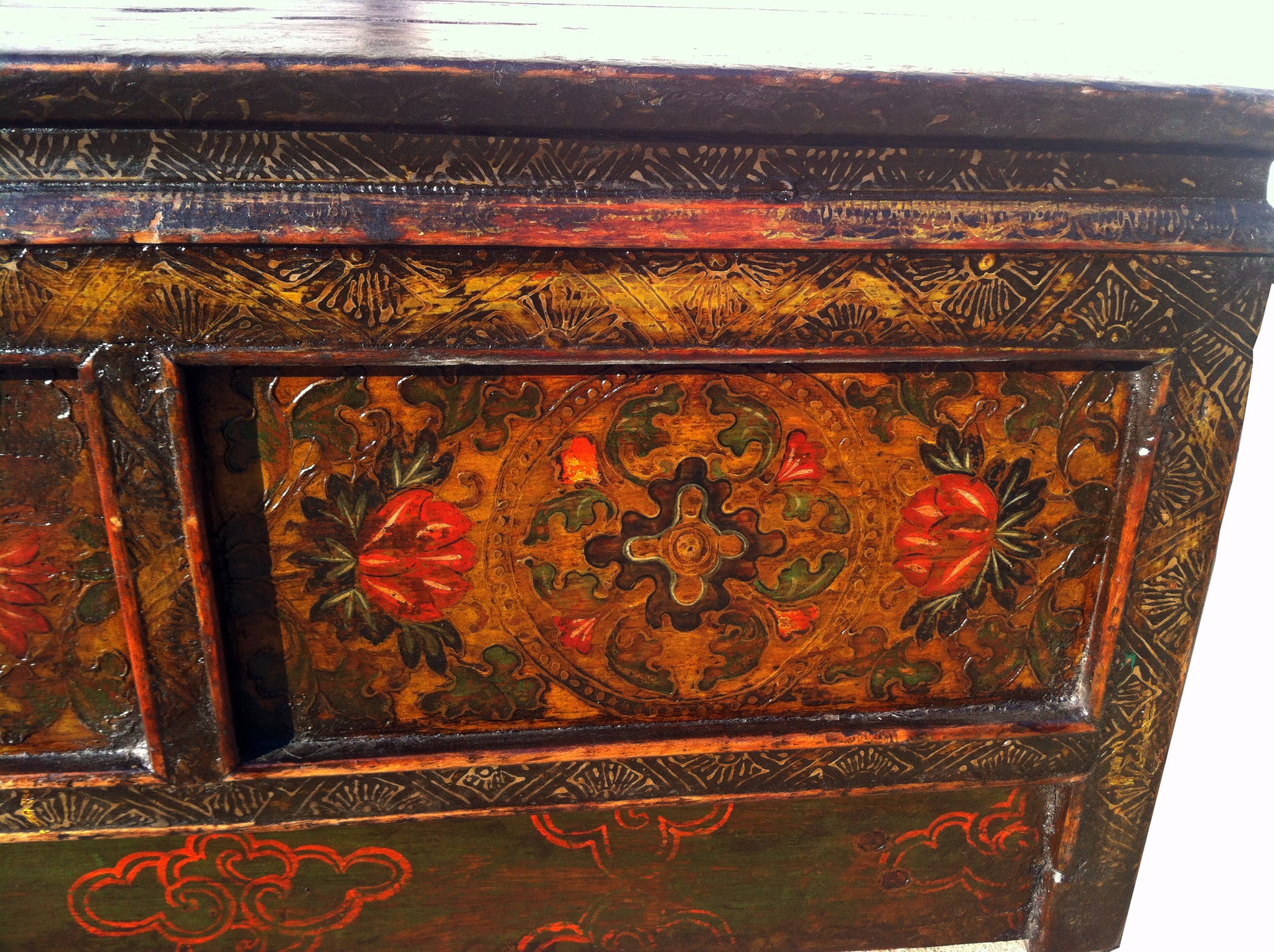 ... One Drawer Tibetan Accent Table   Dyag East ...