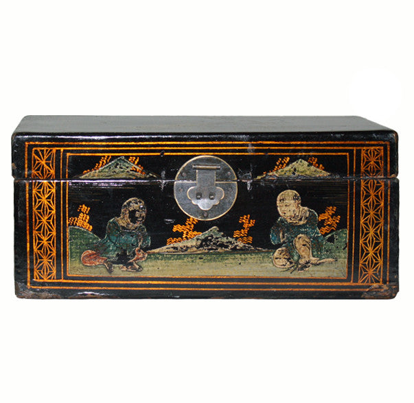 Hand Painted Vintage Chinese Jewelry Box - Dyag East