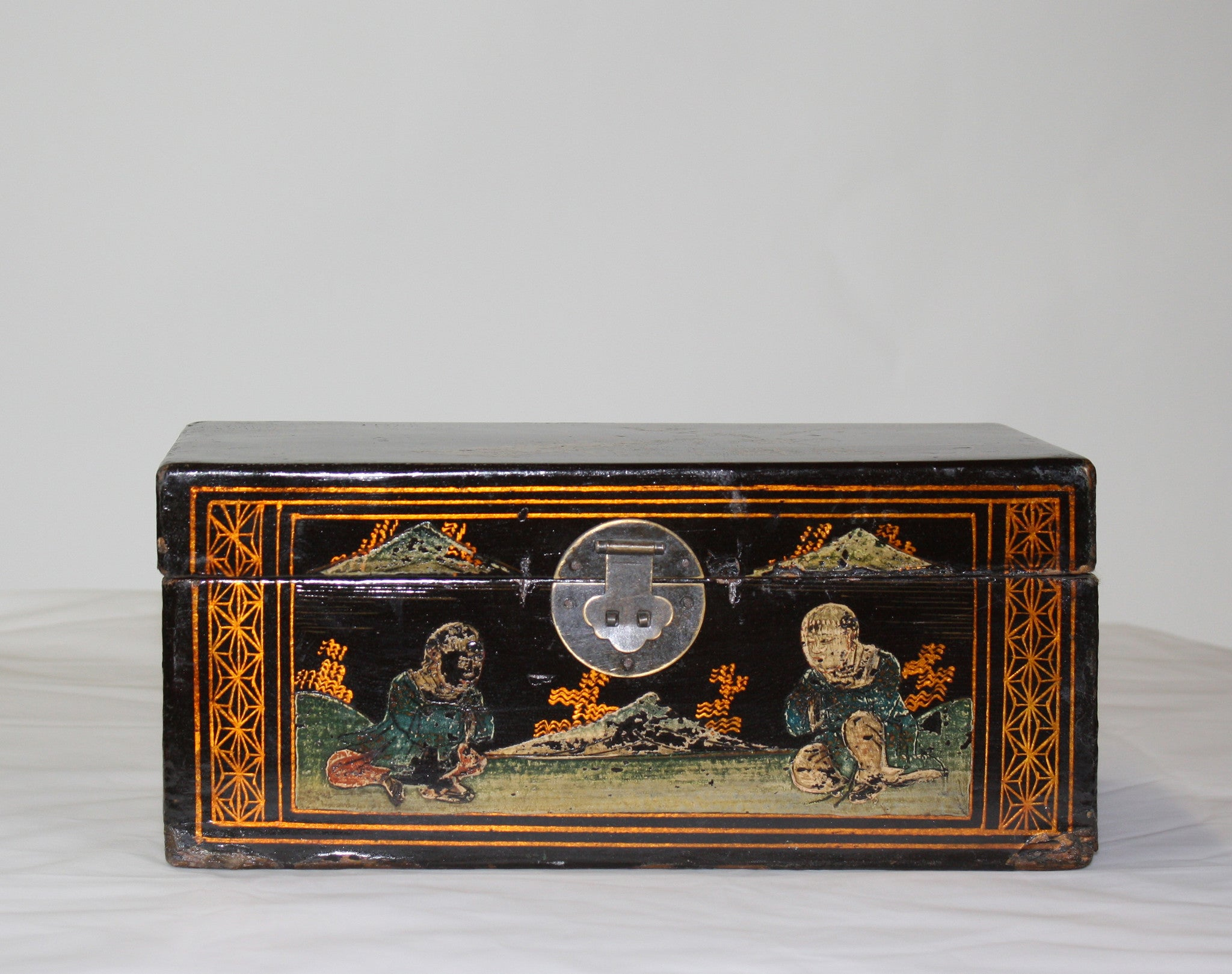Hand Painted Vintage Chinese Jewelry Box Dyag East