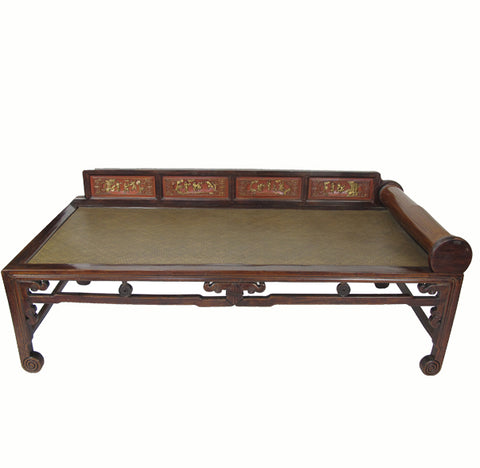 Hand Painted Rattan Daybed - Dyag East