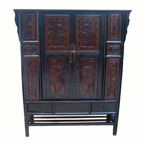Cabinet with Carved Panel Doors - Dyag East