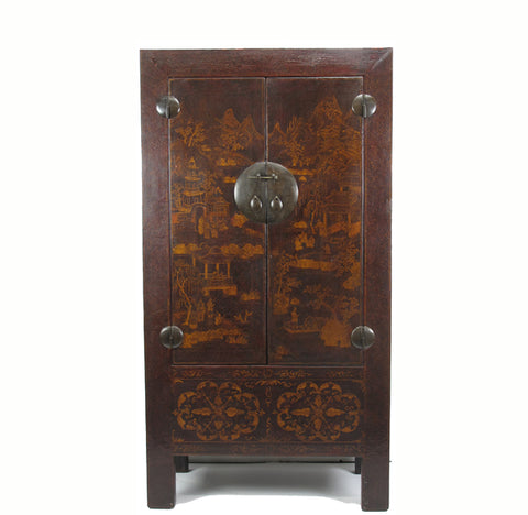 Chinese Antique  Chinoiserie-Style Cabinet - Dyag East