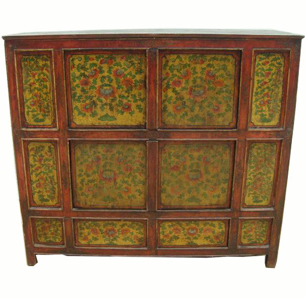 Hand Painted Tibetan Cabinet - Dyag East