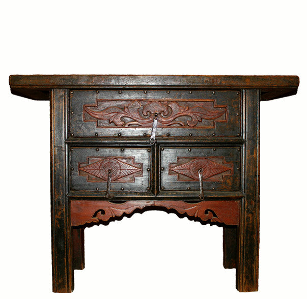 Z-Fine Carved Drawers Chinese Antique Cabinet - Dyag East