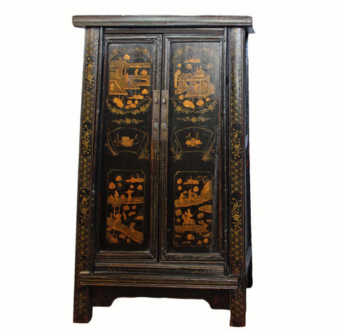 Antique Chinese Tapered Cabinet - Dyag East