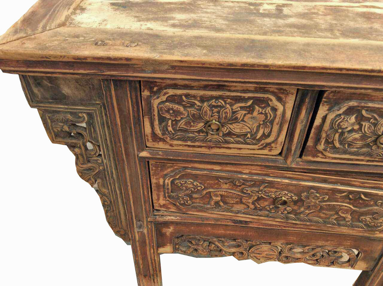 ... Fine Carved Three Drawers Chinese Antique Cabinet - Dyag East ... - Fine Carved Three Drawers Chinese Antique Cabinet – Dyag East