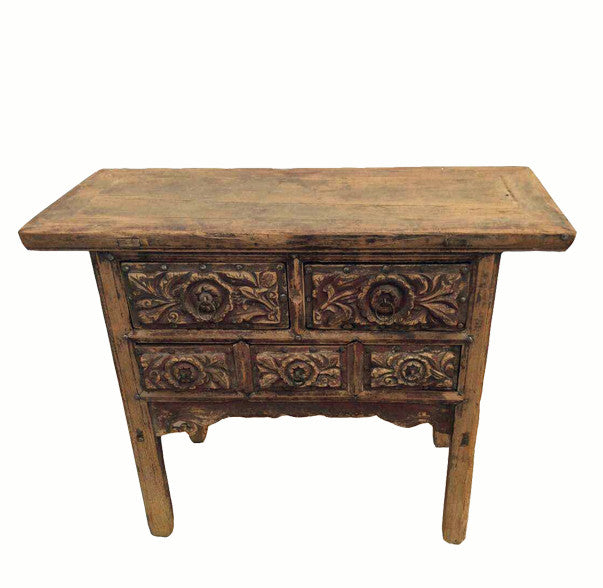 Z-Five Carved Drawer Front Cabinet - Dyag East
