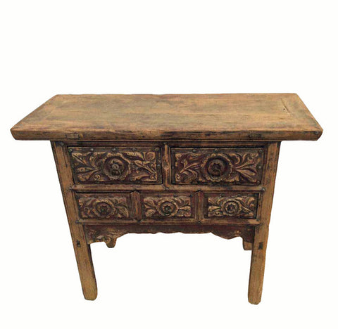 Five Carved Drawer Front Cabinet - Dyag East