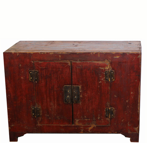 Rich Reddish Patina 19th Century Chinese Cabinet - Dyag East