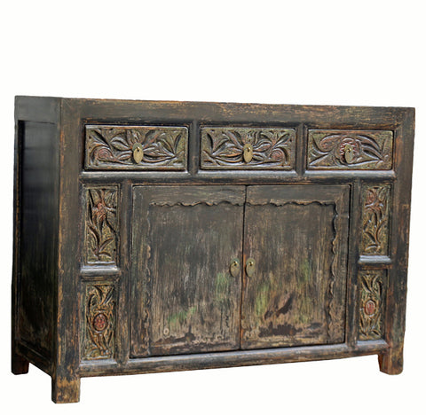 Carved 3 Drawer Cabinet - Dyag East