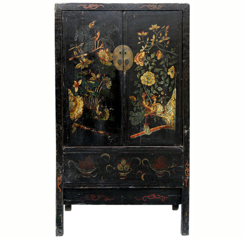 Antique Chinese Chinoiserie Style Cabinet 1   Dyag East